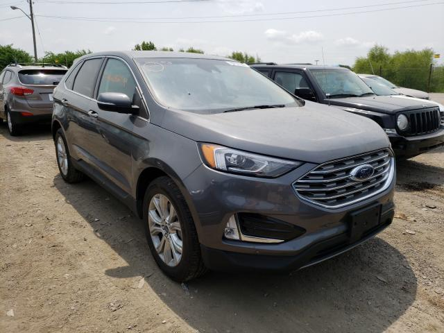 Salvage cars for sale from Copart Indianapolis, IN: 2021 Ford Edge Titanium