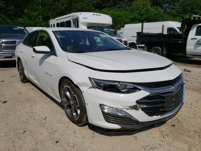 Salvage cars for sale from Copart Mendon, MA: 2020 Chevrolet Malibu LT