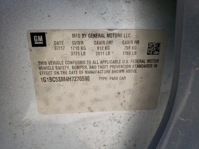 2017 CHEVROLET CRUZE LS 1G1BC5SM4H7276500