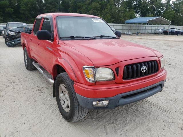 Salvage cars for sale from Copart Midway, FL: 2003 Toyota Tacoma DOU