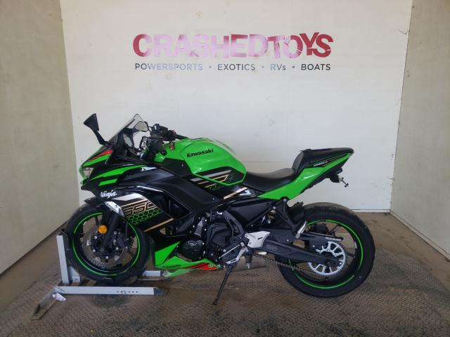 Salvage cars for sale from Copart China Grove, NC: 2020 Kawasaki EX650 N