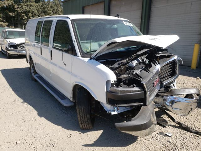 Salvage trucks for sale at Graham, WA auction: 2021 GMC Savana G25