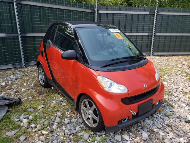 Smart salvage cars for sale: 2008 Smart Fortwo PAS