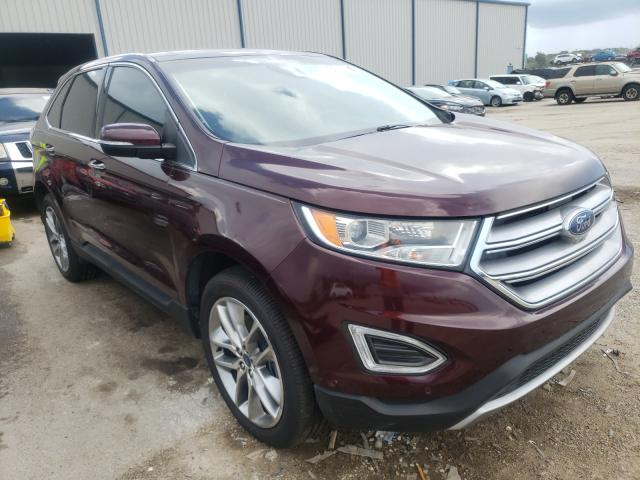 Salvage cars for sale from Copart Apopka, FL: 2018 Ford Edge Titanium