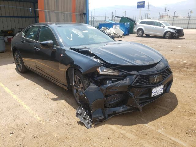 Salvage cars for sale from Copart Colorado Springs, CO: 2021 Acura TLX Tech A