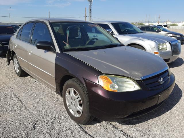 Salvage cars for sale at Las Vegas, NV auction: 2002 Honda Civic LX