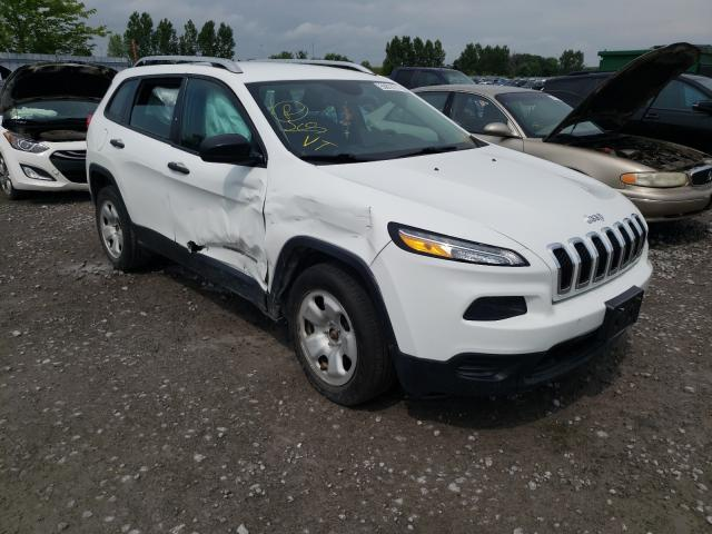 Salvage cars for sale from Copart Bowmanville, ON: 2016 Jeep Cherokee S