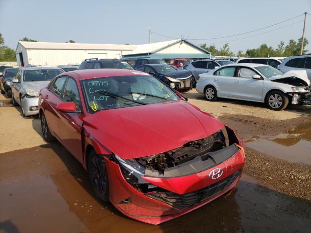 Salvage cars for sale from Copart Pekin, IL: 2021 Hyundai Elantra SE