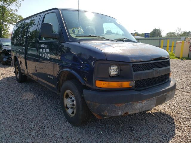 Salvage cars for sale from Copart Central Square, NY: 2006 Chevrolet Express G2