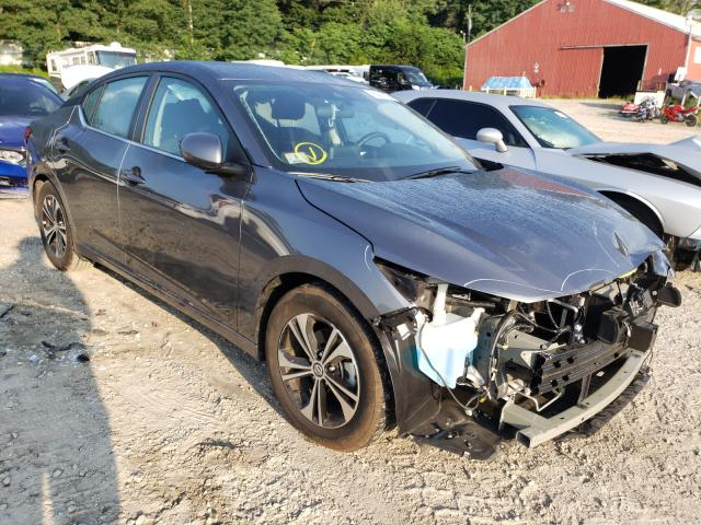 Salvage cars for sale from Copart Mendon, MA: 2021 Nissan Sentra SV