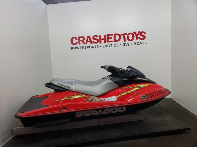 Salvage boats for sale at Ham Lake, MN auction: 2003 Seadoo Bombardier
