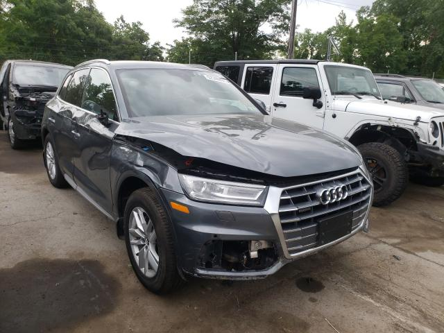 Salvage cars for sale from Copart Marlboro, NY: 2020 Audi Q5 Premium