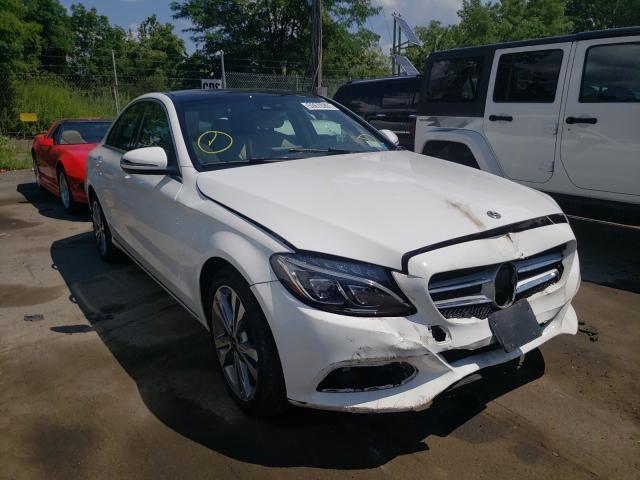 Vehiculos salvage en venta de Copart Marlboro, NY: 2018 Mercedes-Benz C 300 4matic