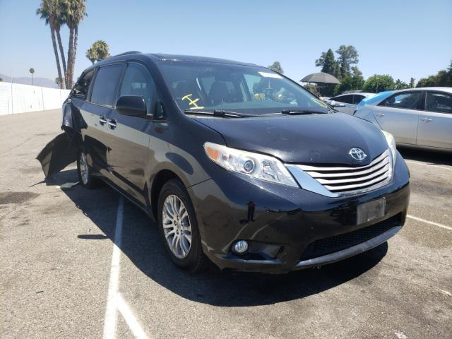 Salvage cars for sale from Copart Van Nuys, CA: 2015 Toyota Sienna XLE