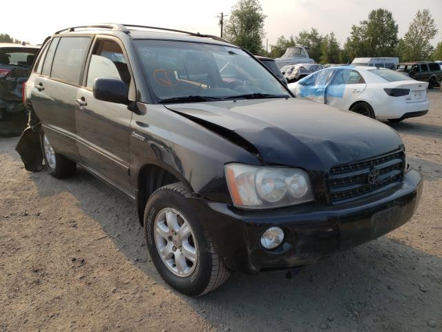 Salvage cars for sale from Copart Portland, OR: 2002 Toyota Highlander