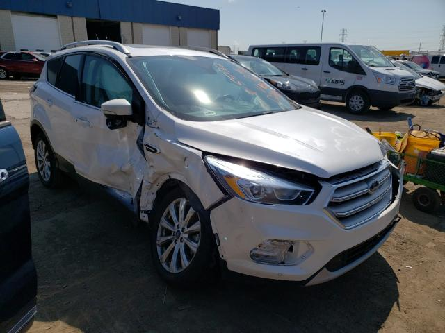 Salvage cars for sale from Copart Woodhaven, MI: 2018 Ford Escape Titanium