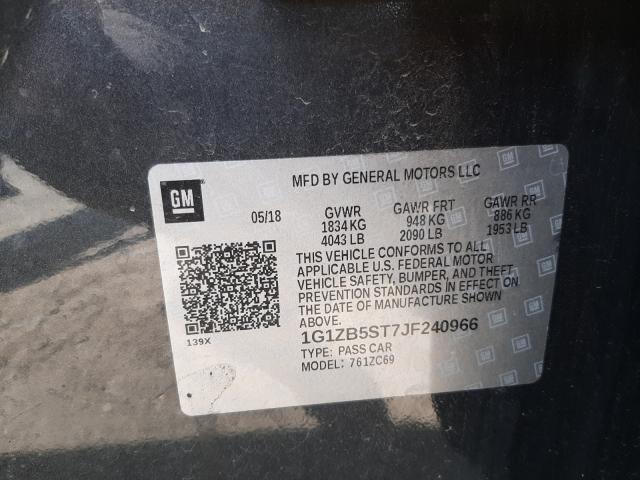 2018 CHEVROLET MALIBU LS 1G1ZB5ST7JF240966