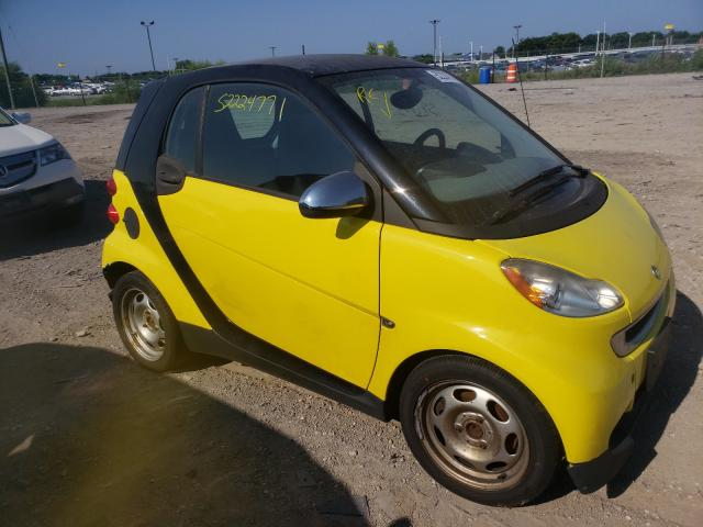 Smart salvage cars for sale: 2010 Smart Fortwo PUR