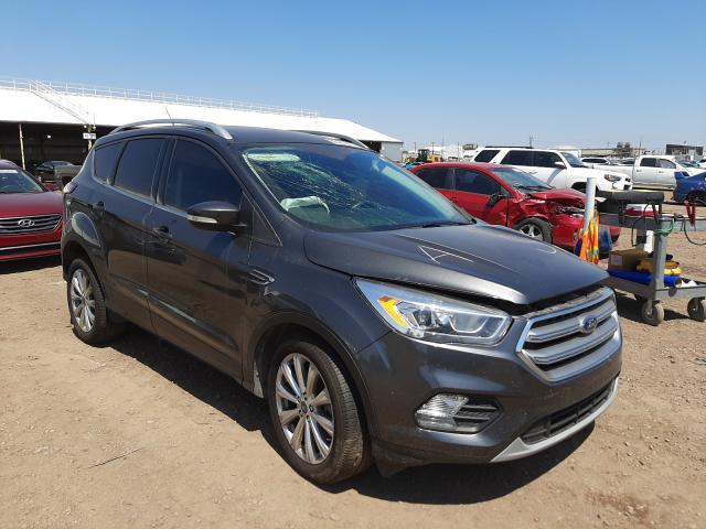 Salvage cars for sale from Copart Phoenix, AZ: 2017 Ford Escape Titanium