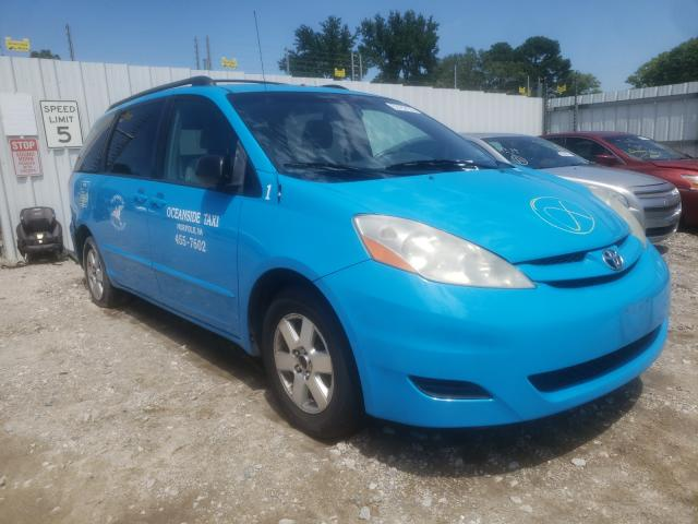 Salvage cars for sale from Copart Hampton, VA: 2009 Toyota Sienna CE