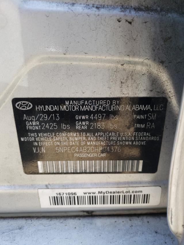 2013 HYUNDAI SONATA SE 5NPEC4AB2DH804376