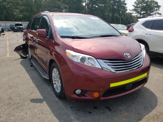 Salvage cars for sale at Eight Mile, AL auction: 2017 Toyota Sienna XLE