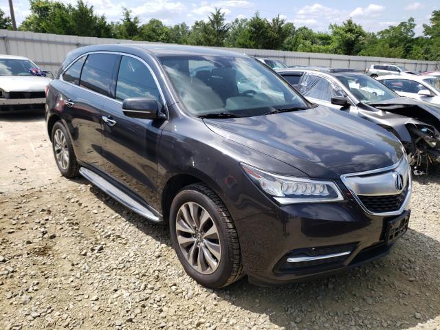 Vehiculos salvage en venta de Copart York Haven, PA: 2014 Acura MDX Techno