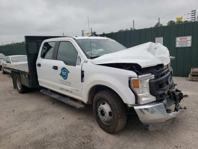 Salvage trucks for sale at Harleyville, SC auction: 2021 Ford F350 Super