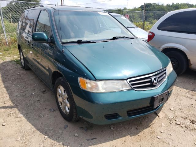Salvage cars for sale from Copart Madison, WI: 2002 Honda Odyssey EX