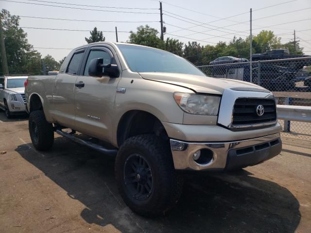 Salvage cars for sale from Copart Denver, CO: 2007 Toyota Tundra DOU