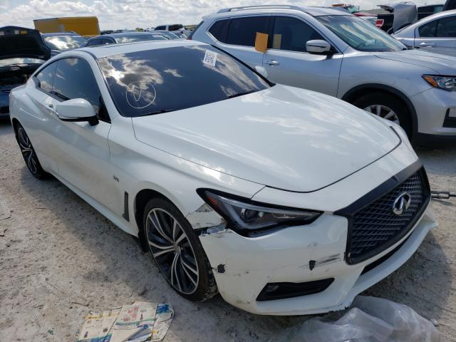 Infiniti salvage cars for sale: 2018 Infiniti Q60 Luxe 3