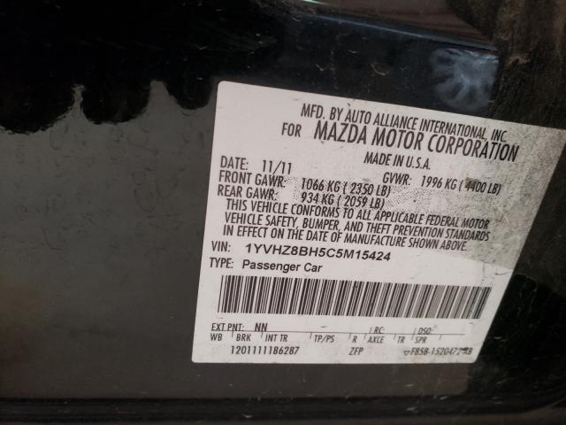 2012 MAZDA 6 I 1YVHZ8BH5C5M15424