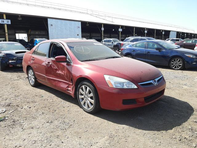 Salvage cars for sale from Copart Phoenix, AZ: 2007 Honda Accord EX