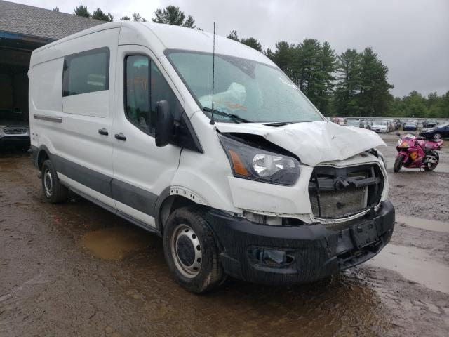 Salvage cars for sale from Copart Lyman, ME: 2020 Ford Transit T