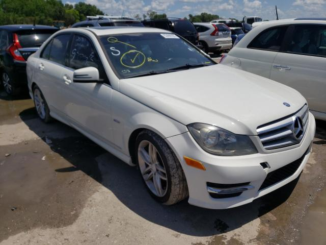 Salvage cars for sale from Copart Riverview, FL: 2012 Mercedes-Benz C 250
