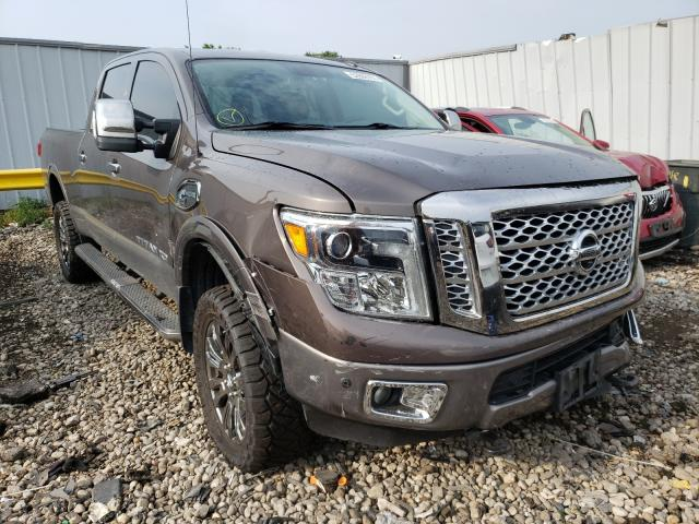 Salvage cars for sale from Copart Cudahy, WI: 2016 Nissan Titan XD S