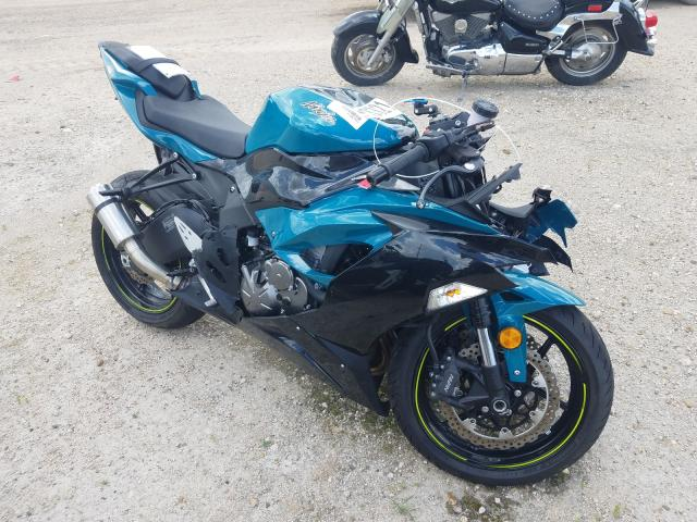 Salvage cars for sale from Copart Mercedes, TX: 2021 Kawasaki ZX636 K