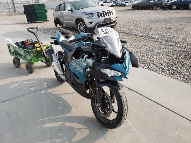 Salvage cars for sale from Copart Farr West, UT: 2021 Kawasaki EX400