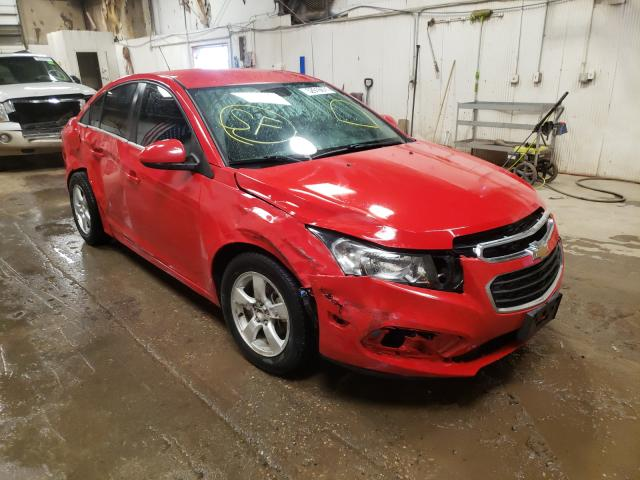 Salvage cars for sale from Copart Casper, WY: 2015 Chevrolet Cruze LT
