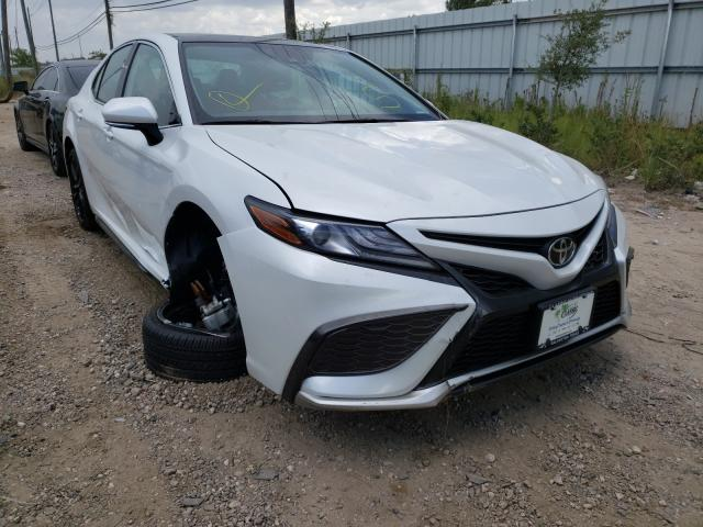 Salvage cars for sale from Copart Houston, TX: 2021 Toyota Camry XSE