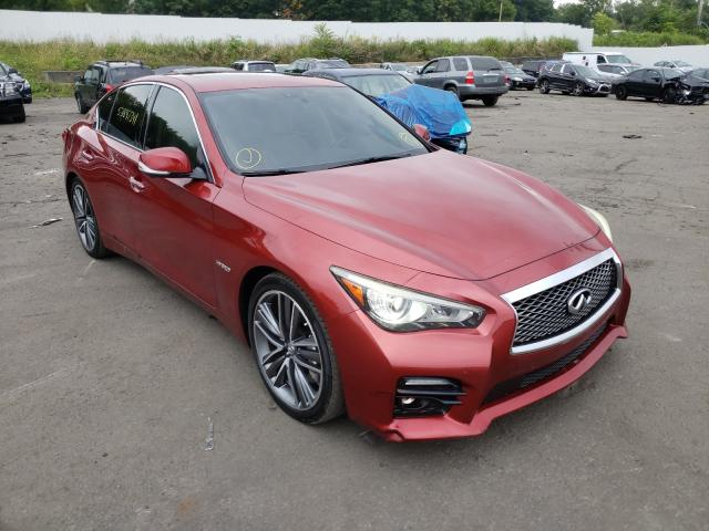 Salvage cars for sale from Copart Marlboro, NY: 2014 Infiniti Q50 Hybrid