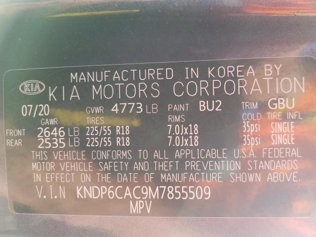 2021 KIA SPORTAGE S KNDP6CAC9M7855509