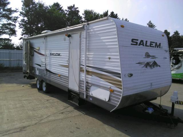Salem Travel Trailer salvage cars for sale: 2010 Salem Travel Trailer