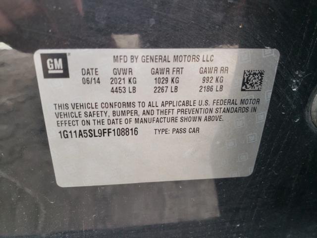 2015 CHEVROLET MALIBU LS 1G11A5SL9FF108816
