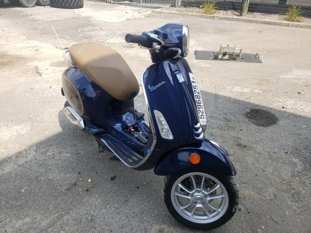Salvage cars for sale from Copart Waldorf, MD: 2019 Vespa Scooter