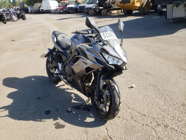 Salvage cars for sale from Copart Woodburn, OR: 2021 Kawasaki EX650 M