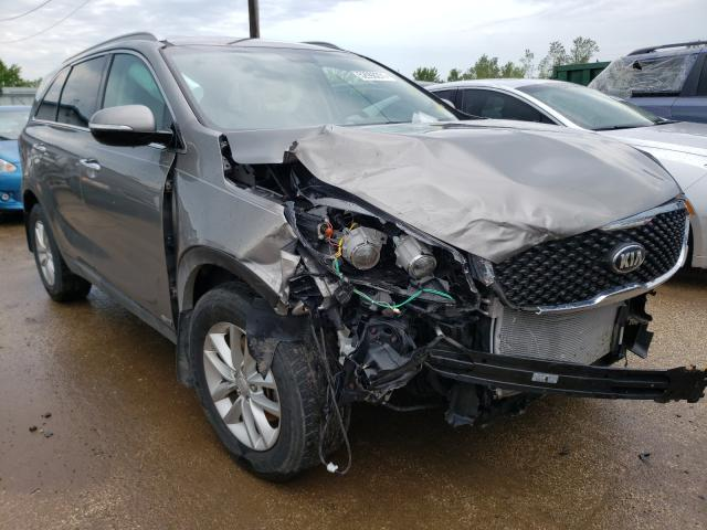 Salvage cars for sale from Copart Pekin, IL: 2016 KIA Sorento LX