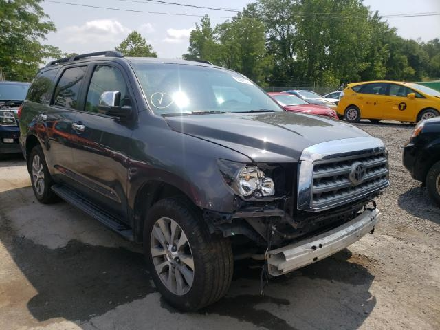 Salvage cars for sale from Copart Marlboro, NY: 2017 Toyota Sequoia LI