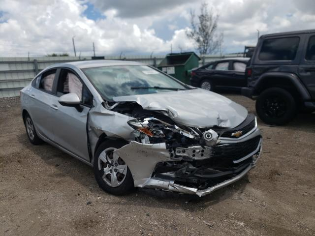 Salvage cars for sale from Copart Miami, FL: 2017 Chevrolet Cruze LS