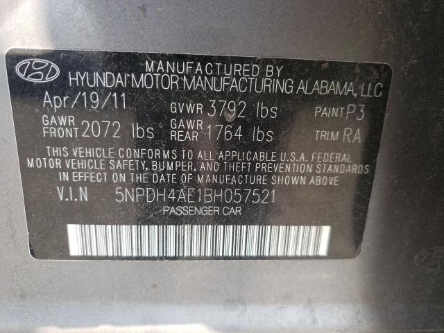2011 HYUNDAI ELANTRA GL 5NPDH4AE1BH057521